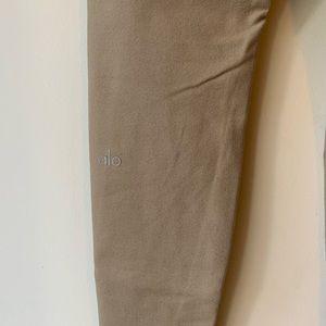 Alo yoga pants tan/gold medium full length